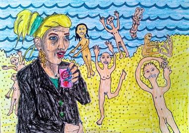 Im alone with naked people maja björk beach